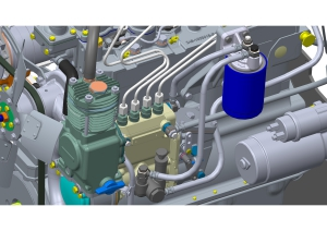 Comment installer le débitmètre de carburant sur le moteur diesel